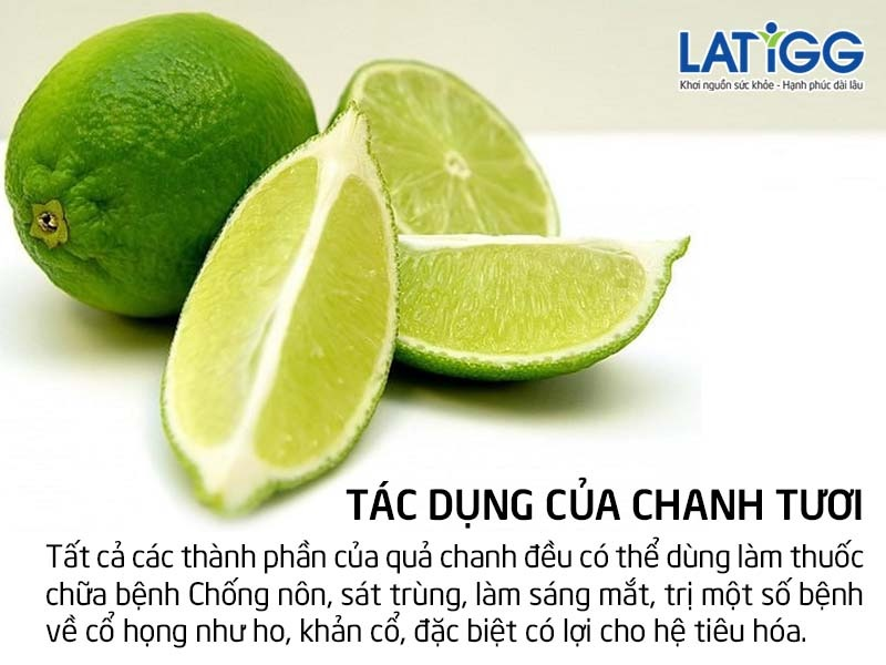 tac dung chanh tuoi
